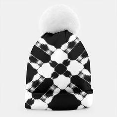 Black and White Beanie by Elena Indolfi Style #Liveheroes
