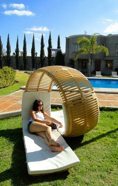 Looping two person lounger.