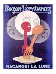 Poster Print Wall Art Print entitled Bozon Verduraz,Vintage Poster, by Severo Pozzati Vintage Italian Posters, Vintage Advertising Posters, Vintage Advertisements, Retro Posters, Retro Ads, Advertising Campaign, Advertising Design, Vintage Labels, Vintage Ads