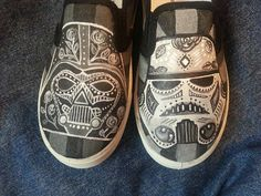 Hand-painted Star Wars Day of the Dead on Vans shoes from etsy.com