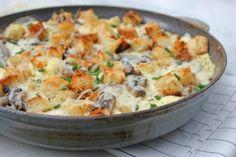 Mushroom, Cheese, and Toast Frittata (recipe)