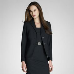 Jones New York: Women's Suits > The Washable Suit > Washable Wool Sleek Suited Jacket