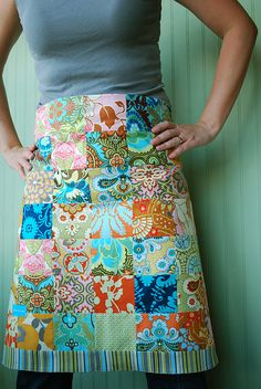 Amy Butler patchwork apron.