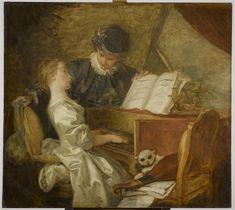 Jean-Honoré Fragonard (French, 1732 - 1806) - La Leçon de musique. Musée du Louvre, Paris