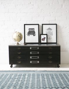 perfect! (too bad I can't get it in Canada) // Industrial Plans Chest at Rose and Grey
