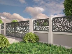Deep Forest - Mild Steel Laser Cut Gate and Fence - Gate+Fence Brick Fence, Front Yard Fence, Fence Gate, Fenced In Yard, Fences, Horse Fence, Small Fence, Yard Fencing, Horizontal Fence
