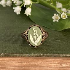 Antique Rings, Vintage Rings, Antique Jewelry, Antique Silver, Vintage Jewelry, Victorian Jewelry, Cameo Ring, Hand Jewelry, Lily Of The Valley