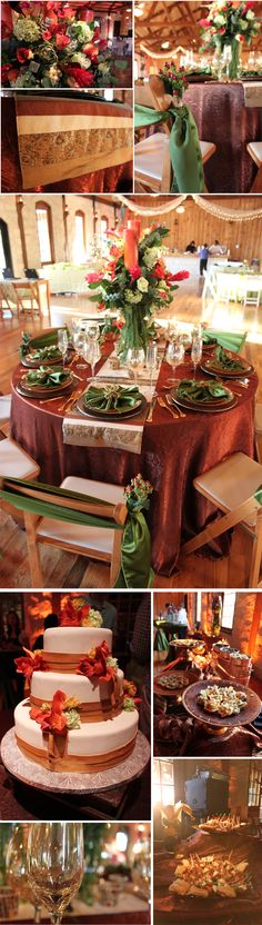 ❤Fall Wedding cute color scheme
