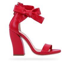 Sandale Se nouer… Rose flamingo Chevreau velours