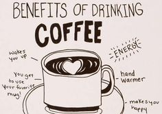 Is coffee good for your health? Coffee Good For You, Benefits Of Drinking Coffee, Single Serve Coffee, Fun Illustration, Illustrations, Fun Cup, How To Get Warm, Coffee Drinks, Coffee Coffee