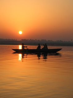 The Ganges at sunrise, Banaras, India...so spiritual  (photo by Marg Campbell)