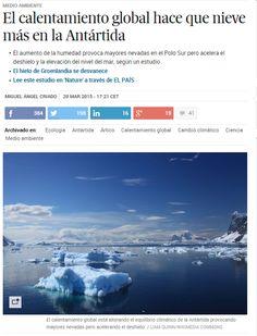 El calentamiento global hace que nieve más en la Antártida / @materia_ciencia | #readyforclimatechange