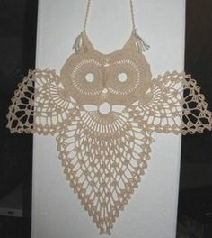 crochet owl and pattern. too bad i never understand pictures patterns! Filet Crochet, Crochet Motifs, Crochet Diagram, Thread Crochet, Crochet Doilies, Crochet Flowers, Crochet Patterns, Crocheted Lace, Crochet Owls