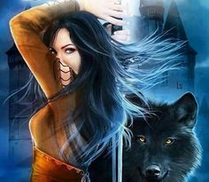 Fantasy Warrior with Wolf Image - ID: 175442 - Image Abyss Wolf Images, Female Images, Fantasy Women, Fantasy Girl, Katie Wright, Werewolf Stories, Warrior Images, Best Romance Novels, Wolves And Women