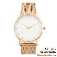 3W-DW201,Rose Gold Mesh Strap Diamond Watch, click picture to create your own brand watch.