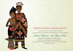 african wedding invitations uk - Google Search