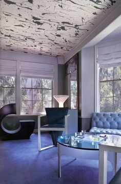 Focus your attention above. A very doable project as a renter, painting your ceiling will make a rad impact. Besides a solid splash of color, you could stencil, wallpaper, or drape fabric. 1 / 2 / 3 / 4 / 5 / 6 / 7 / 8 / 9 / 10