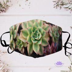 Echeveria Succulent Glory Washable Reusable Mask