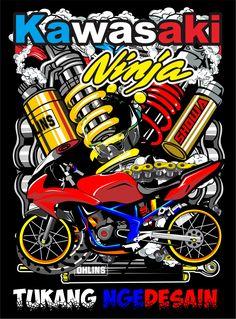 Motorcycle Art, Bike Art, Bike Drawing, Thai Design, Team Logo Design, Motorbike Design, Honda Cub, Dark Wallpaper Iphone, Beautiful Nature Wallpaper