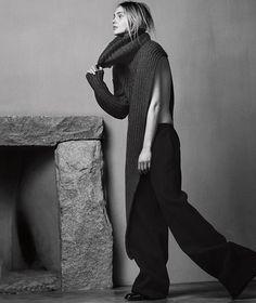 Sasha Pivovarova by Erik Torstensson for Porter Winter 2015 - Page 2 | The Fashionography