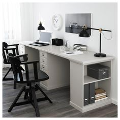 So make sure you design your home office exactly how you want from the perfect colors, . See more ideas about Desk, Home office decor and Home Office Ideas. Ikea Home Office, Home Office Space, Home Office Furniture, Office Decor, Office Ideas, Office Designs, Office Setup, Office Table, Furniture Design