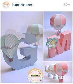 Resultado de imagen para letras 3d decoradas para baby shower niño