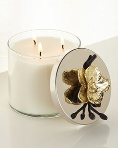 Gold Orchid Candle by Michael Aram at Neiman Marcus. #EFPerfectGift