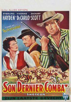1955 movie posters | Shotgun (1955) 27 x 40 Inches - 69cm x 102cm Movie Poster RePrint
