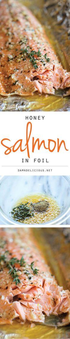 Honey Salmon in Foil