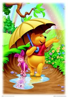 Diamond Painting Winnie the Pooh and Piglet Rainbow Kit Disney Winnie The Pooh, Winnie The Pooh Pictures, Winne The Pooh, Winnie The Pooh Quotes, Cute Disney, Disney Art, Disney Collage, Baby Disney, Lilo Et Stitch