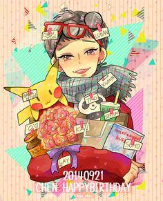 Happy birthday Chen!!!! #HappyChenDay #ItsOkayThatsChen #HappyBirthdayChen 140921