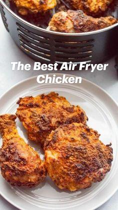 Air Fryer Oven Recipes, Air Frier Recipes, Air Fryer Dinner Recipes, Air Fryer Chicken Recipes, Air Fryer Fried Chicken, Air Fried Food, Air Fry Chicken, Chicken Fried Chicken, Healthy Fried Chicken