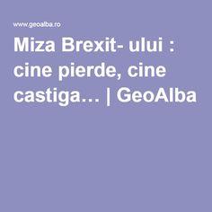 Miza Brexit- ului : cine pierde, cine castiga…   GeoAlba Accounting, Blog, Movies, Business Accounting, Blogging