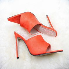 Red Color, Heeled Mules, Fashion Shoes, Shoes Heels, Free Shipping, Best Deals, Summer, Stuff To Buy, Tops