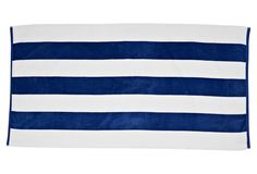beach towels as decor or gifts? Cabana Stripe Beach Towel, Royal on One Kings Lane today