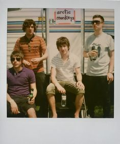 Never-Before-Seen Polaroids of Amy Winehouse, Paris Hilton, and Boots Riley Recall Coachella When It Was Actually Cool Alex Turner, Arctic Monkeys, Josh Meyers, Perry Farrell, Weekend Film, Jenny Lewis, Jane's Addiction, Monkey 3, The Last Shadow Puppets