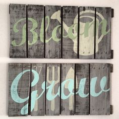 Hand Painted Repurposed Pallet by soulshineliving on Etsy