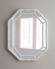 White Octagonal Mirror at Horchow.