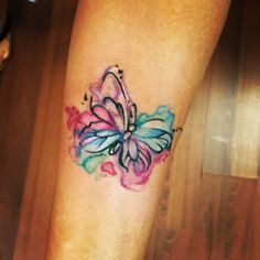 My new watercolor butterfly tattoo!!!! Cute and simple