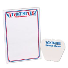 Together We Make A Difference Notepad & Sticky Pad | Positive Promotions