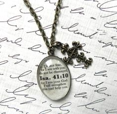 Isaiah 41:10 Bible Verse Necklace on Etsy, $20.00