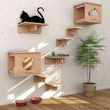 Play P/ Gatos Com 8 Itens, Nicho Toca, Escada E Prateleira