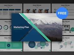 Free PowerPoint template: Marketing Plan