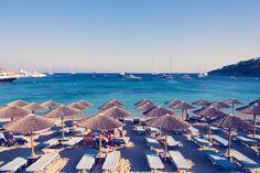 Mykonos Light Blue Beach Chairs by Gray Malin Beach Art, Blue Beach, Retro Summer, Greek Isles, Seaside Towns, Beach Chairs, Mykonos, San Francisco Skyline