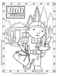 sock monkey coloring pages printable | bob the builder coloring pages