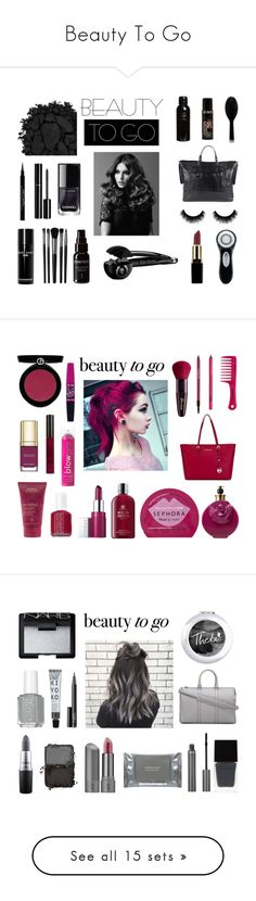 """""""Beauty To Go"""" by rivmisty ❤ liked on Polyvore featuring beauty, Givenchy, Urban Decay, Chanel, Clarisonic, BaByliss Pro, Illamasqua, Bobbi Brown Cosmetics, Oribe and GHD"""