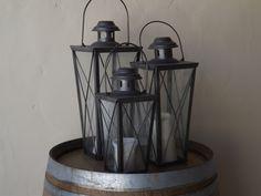 Zinc lanterns (3)