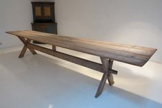 antique swedish pine trestle table