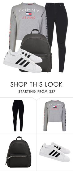 """""""Outfit #1966"""" by lauraandrade98 on Polyvore featuring moda, Tommy Hilfiger, MANGO y adidas"""