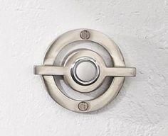 Remember I talked recently about modern doorbells and house numbers? I found this modern doorbell at Chiasso and I think it's my favorite. Porch Entry, Entry Foyer, Door Security System, Door Furniture, Modern Furniture, Split Level Remodel, Cool Doors, Modern Door, Door Knockers